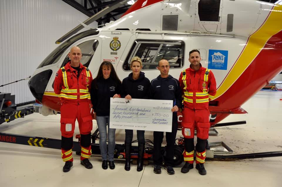 Funds Raised For Cornwall Air Ambulance